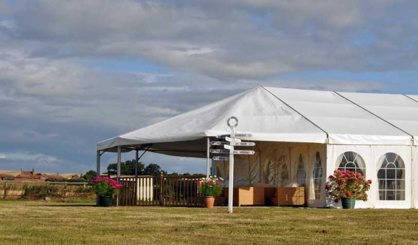 Decking added to a Wedding marquee, Summer 2014